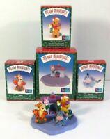 Hallmark Merry Miniatures Disney WinnIe The Pooh Christmas Set Complete Box Vtg