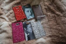 7x blackberry priv phone cases covers crystals faux leather vintage hollywood