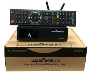 ORIGINAL ZGEMMA H9S WIFI Enigma 2 Box 4K UHD Satellite Receiver DVB-S2X 4K