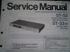 TECHNICS ST-S3 SINTONIZZATORE STEREO ST-S3K Manuale di servizio diagramma di cablaggio parti
