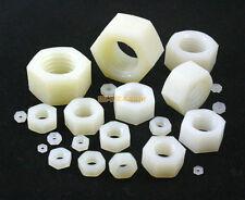 300 Pieces M2.5 Nylon Metric Hexagon Nut Insulation Nut