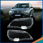 Us For Bmw X5 E70 2008-13 Pair Left Right Headlight Cover Lamp Lens Lampshade