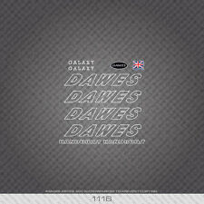 01116 Dawes Galaxy Bicycle Stickers - Decals - Transfers - White
