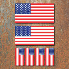 USA American Flag Laminated Sticker Set Car Motorcycle Harley Davidson Decals