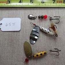 Vintage fishing lure spinners Abu reflex, Swedish swing, unknown  (lot#6571)