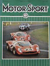 Motor Sport magazine 03/1967 featuring Ford Mustang, Chevrolet Camaro