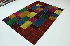Modern Patchwork Stone Wash Uesd Look Perser Teppich Orientteppich 3,00 X 2,03