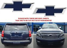COLORMATCHED Blue Velvet Metallic Vinyl Bowtie Overlays For 2014-2018 Tahoe New