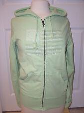 "Women's""POLO JEANS COMPANY""Green 100% Cotton Zip up Logo Hoodie Jacket  L. Cute!"