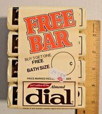 Vintage 4X Almond Dial Bath Soap Bar NOS 5 oz from 80s NOS -- 500