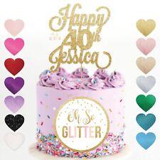 40th nome cake topper, 40 Topper, Custom QUARANTA personalizzato 16 18 21 50 60 70 80