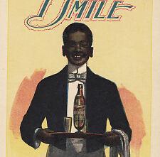 Richelieu Round Bottom Ginger Ale Chicago Root Beer Sprague Soda Black Adv. Card