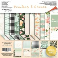 "12"" x 12"" scrapbooking paperpad cardstock Peaches & Cream 11 sheets 190gsm"