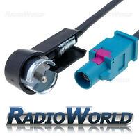 Audi/BMW/Ford/VW/Vauxhall Fakra Aerial Adaptor 25cm Fakra to ISO Plug angled