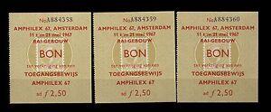 Netherland  05(c) AMPHILEX Philatelic Exhibition x 3  1967  MNH