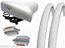 "Sella MG + Pedali + N°2 Copertone 28"" - 700 x 28 Bici Torino - Condorino  BIANCO"