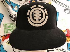 "Element Crowns Flexfit Fitted Cap Hat Black White 6 1/8""-7 1/4"" Skateboarding"
