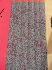 new Betsey Johnson Turquoise Teal blue~Pink Purple Camo Butterfly Shower Curtain