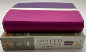 Amplified Bible Compact Leathersoft Orchid Plum NIB