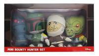 "STAR WARS PLUSH TOYS - MINI BOUNTY HUNTER SET ""IG-88, BOBA FETT, DENGAR & BOSSK"""