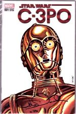 "ANTHONY DANIELS Signed ""C3-P0"" Sketch Cover Star Wars Comic Book PSA/DNA AC13347"