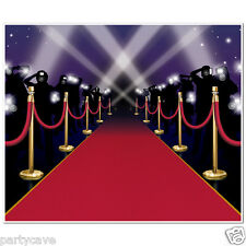HOLLYWOOD PARTY AWARDS NIGHT VIP RED CARPET MURAL WALL SCENE DECORATION