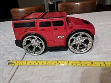 "Hummer h2 toy car 8""x5"" Plastic Red. A-ha toys 2004"