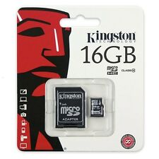 16 GB SDHC Micro SD Karte Kingston 16GB Class Klasse 10 mikro Adapter Card