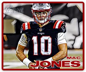 Mac Jones New England Patriots Character #10 Rendering NFL Football MAGNET