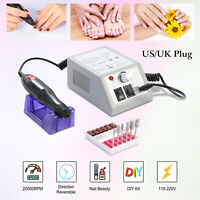 Pro Nail Drill Machine 20000RPM Electric File Acrylic Gel Nail Grinder Tool Bits