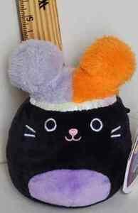 "Squishmallow 4"" Autumn Black Cat Squish Doo Soft Halloween Plush FREE QUICK SHIP"