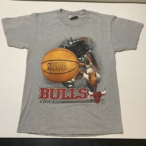 Vintage 90's Chicago Bulls Nutmeg T-Shirt Rodman Jordan Gray Men's Medium