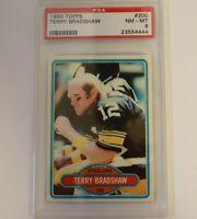 1980 Topps Football #200 Terry Bradshaw HOF Pittsburgh Steelers PSA 8 NM-MT