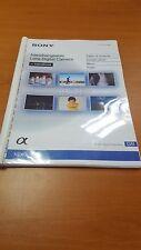 SONY Nex 7 Fotocamera Digitale stampato Manuale di Istruzioni User Guide 211 Pagine A5
