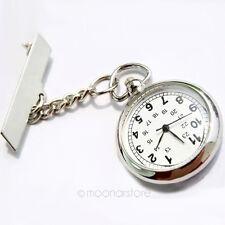 Moda Enfermera Clip Pasador Broche Colgante Bolsillo Cuarzo Reloj De