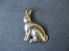Vintage marked Mexico 925 Tu-69 sterling large rabbit bunny pin