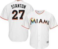 Miami Marlins MLB Mens Giancarlo Stanton Cool Base Jersey White Big & Tall Sizes