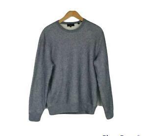 Vince Size S Men's Coastal Slim Fit Crew Neck Long Sleeve Cotton Sweatshirt
