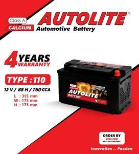 CAR BATTERY TYPE 110 88AH 12V FORD TRANSIT 2.2 80AH 115
