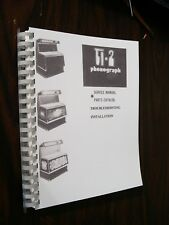 ROWE AMI TI-2 Jukebox manual