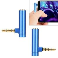 2x 90 Degree Right Angled 3.5mm Male to Female Adapter Connector Stereo Plug CSO