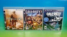 Call of Duty: Modern Warfare 2, Ghosts, COD 3, - Playstation 3 PS3 3 Game Bundle