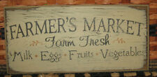 """PRIMITIVE  COUNTRY THE FARMER'S MARKET 12""""  SIGN"""