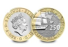2018 UK Captain Cook's Voyage CERTIFIED BU £2   [Ref 689E]