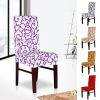 New 2/4/6 pcs Removable Stretch Slipcovers Short Dining Stool Seat Chair Cover