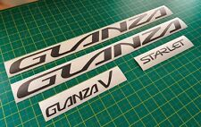 Toyota Starlet Glanza V EP91 Replacement Decals Stickers Set - Original sizing