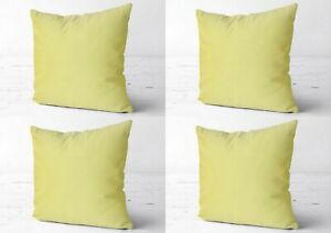Collection Of All Size Plain 4 Pcs Indian Pillow Cover Sofa Decor Cushion Covers