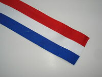 Ruban tricolore BLEU BLANC ROUGE français 66mm vendu au ml conscrits, medaille