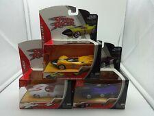 Jada Complete Set of 3 Speed Racer Cars - Mach 5, Snake Oiler, Shooting Star MIP