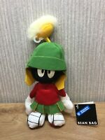 Warner Bros Bean Bag Plush Soft Toy Rare Collectable NEW Marvin The Martian 11""